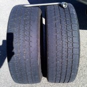 My previously worn front tires, this picture is from NOV-2009.
