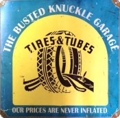 Old Tires & Tubes sign