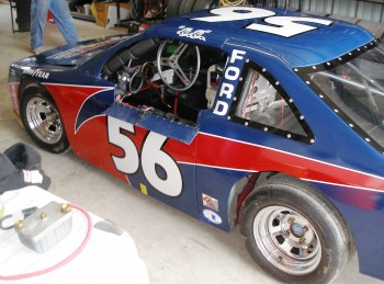This is the Texdive Motorsports Allison Legacy #56 - it's a bit cramped in there!