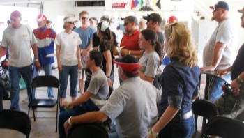 Allison Legacy car teams await their turn for the Thunderhill Raceway qualifying 'lottery'!