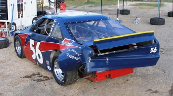 Lauren Runco's Texdive Motorsports car #56, rear suspension & body damage...