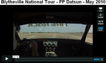 Rick competing at the Blytheville National Tour in his FP Datsun