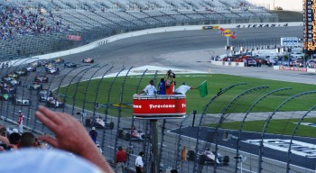 Texas Motor Speedway Firestone 550K green flag race start...