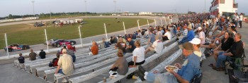 Thunderhill Raceway in Kyle, Texas - Grandstand panorama with fan details...