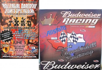 Thunderhill Raceway Promotional Racing posters