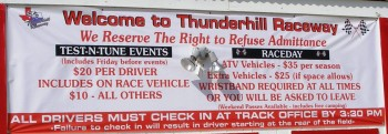 Welcome to Thunderhill Raceway - Don't be late!