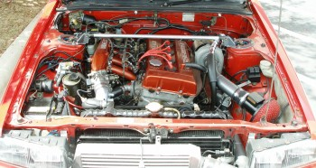 1983 Nissan Skyline DR30, upgraded engine bay