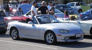 Karlino, my 1999 Maxda Miata, assisting in Racing Ready Synthetics AMSOIL business promotion!