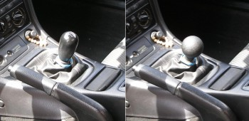 Karlino shifter knob change out - before & after...