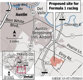 Proposed site for Formula 1 Racing in Austin 2012