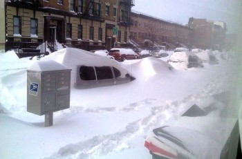 Brooklyn end of December 2010 snow drifts...streetside parking view!