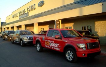"Dealer-based 2011 Ford EcoBoost test drive ""parade""..."