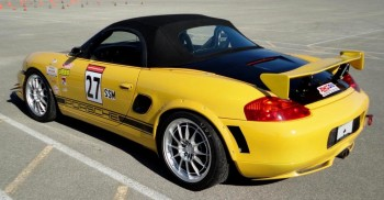 SASCA 2011 AutoX #3 - Federico's SSM Porsche Boxter - with AMSOIL Racing livery!