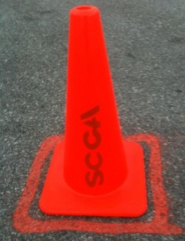 SCCA Houston Solo Tour Official Cone, courtesy of Jimmy Crawford (FB)
