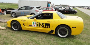 Eric's Corvette, all decaled out - note the striking RacingReady.com logo!