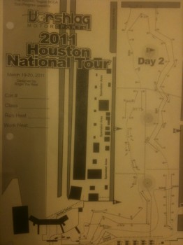 Course map for Day 2 of 2011 SCCA Solo National Tour in Houston