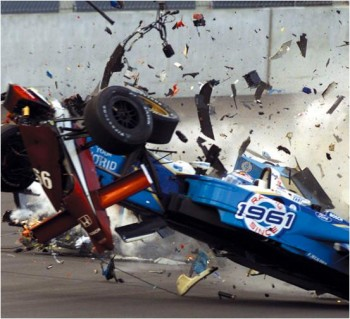 Alex Zanardi's graphic, life-altering crash in the CART race of September 24, 2001 at Lausitz, Germany