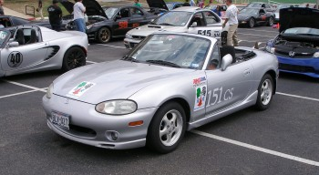 Karlino debuting the RacingReady.com colors in autocross livery!
