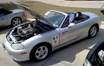 Karlino,my AMSOIL-sponsored Miata autocrosser & daily driver, shining brilliantly!