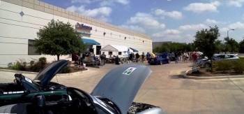 ProSource Promo Show & Shine Event, over Karlino's hood...