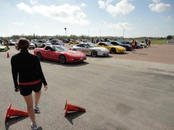 A challengingly competitive group, staged & waiting for their next autocross run at the 2011 SCCA Houston Tour event!