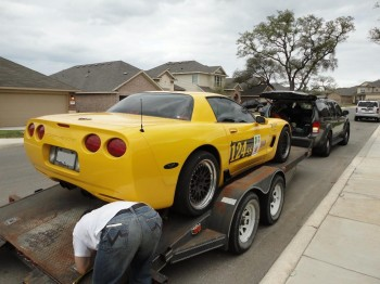 Getting ready to de-trailer Sunshine after a long SCCA 2011 Houston Tour weekend..
