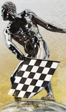 Indianapolis 500 Borg Warner Trophy checkered flagger