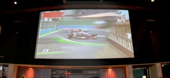 HUGE screen at Cool River, F1 Watch Party - European GP - June 26, 2011
