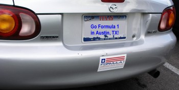 Karlino doing his part to support the arrival of Formula 1 in Austin, TX!