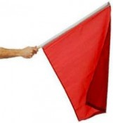 Red flag means racing is stopped!