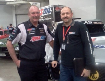 Scott Douglas, 2010 Trazzas TORC Champ, with Racing Ready Dan at AMSOIL U 2011