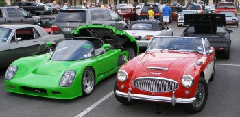 Such a diverse group of 2-seater sports cars - at the informal C&C Show @ Panera's, SA, TX - 25-JUN-2011