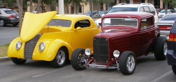 There were these classic hot rods to enjoy, too, at the informal C&C Show @ Panera's, San Antonio, TX - 25-JUN-2011
