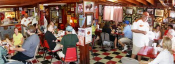 Wild Bubba's Wild Game Grill interior panorama...