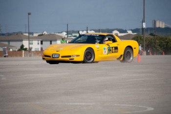 Eric thru the lights (a damn spin!) at the SCCA Divisional at Retama, on June 18, 2011