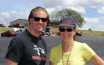 Michael Cox & Sondra Sondregger at the H2R paddock