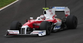 Toyota's ex-F1 car, the TF109 - last used in the F1 racing season of 2009