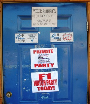 Wild Bubba's F1 Watch Party Today! - 2011-07-24