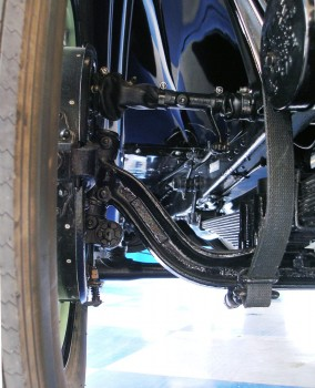 1927 Buick - pristine undercarriage, front-right wheel suspension detail, at A&E Classic Cars