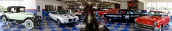 A&E Classic Cars Showroom - this is a grand entrance that will stop you in your tracks!