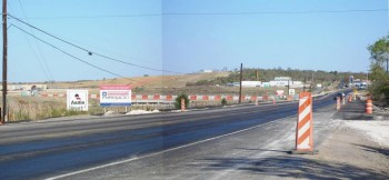 Highway FM 812 Expansion, in front of COTA entrance!