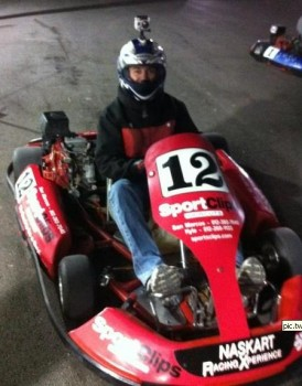 Jeff Warden (my Chevy FFE Team Partner) very NasKart Ready!