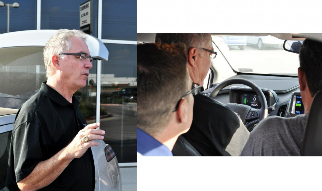 Craig Eppling, GM Communications Regional Manager, explaining the Volt's technolgy & inner workings - Photos by Russ Ham
