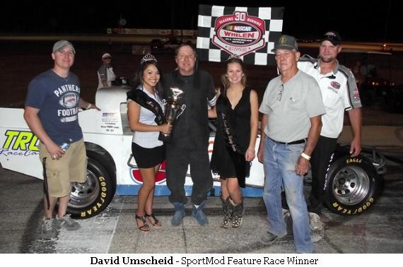 David Umscheid - SportMod Feature Race Winner at Thunderhill Raceway, Kyle, TX - 10-SEP-2011