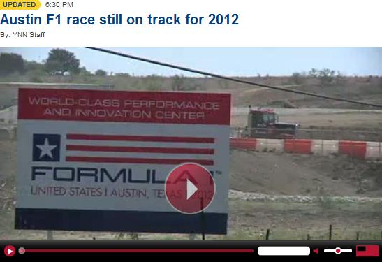 Austin F1 race still on track for 2012 - YNN video
