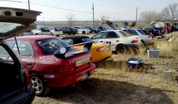 A good variety of 2WD & 4WD vehicles showed up for the inaugural Texas RallySport event at Brianne Corn Raceway in Maxwell, TX