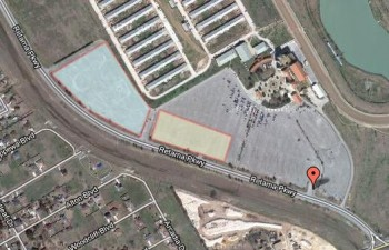 Skyview of Retama Park lot, 2012 SASCA Autocross Venue