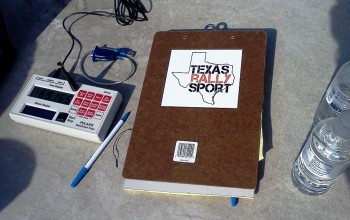 Texas Rally Sport timing & scoring equipment at Brianne Corm Raceway