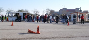 Competitors waiting to do a coursewalk at the SASCA AutoX 2012 #2