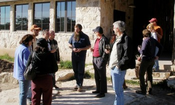 Josh, of Jester King Brewery, admiting his reawakening car passion with Tejas Miatas run participants - 25-FEB-2012